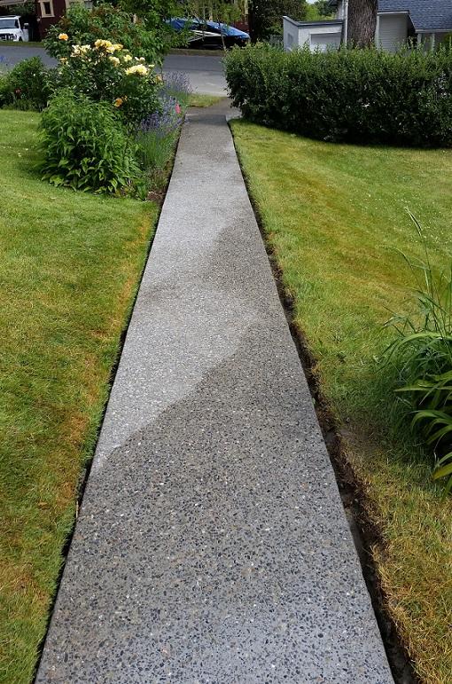 Concrete sidewalks stairs in kamloops hardaker concrete for Removing concrete walkway